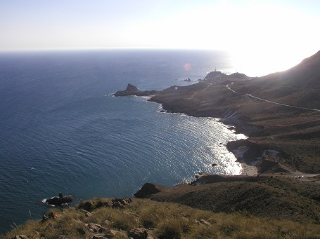 Jogging along the coastline of Cabo the Gata (the beaches South of the lighthouse)