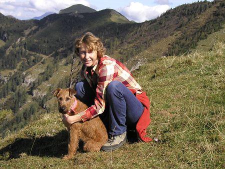 Irischer Terrier mit Susi