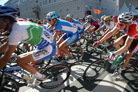 Scene from the UCI WM Road Bicycle Champoinship (LIVE)
