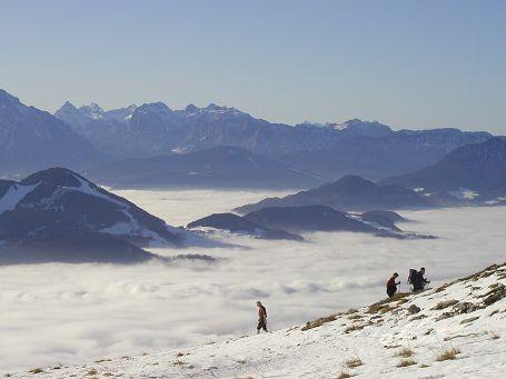Schlenken über dem Nebelmeer