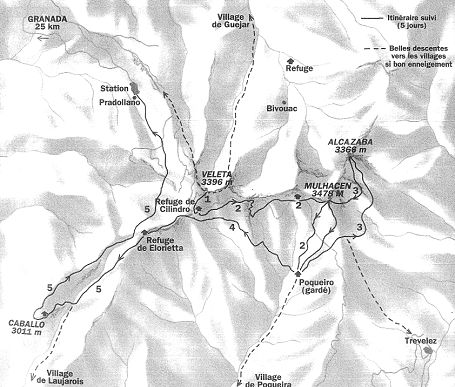 Karte Sierra Venada