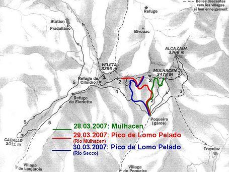 Sierra Nevada Karte