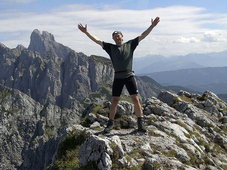 Georg am Gipfel des Donnerkogels