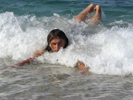 Wastl in den Wellen