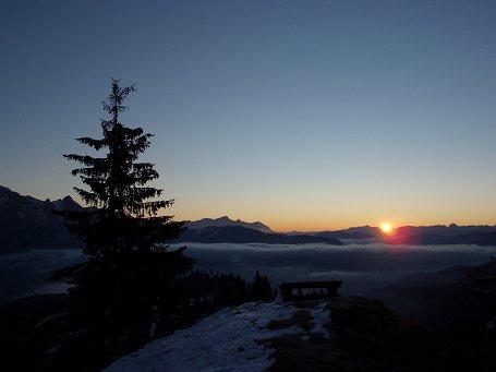 Sonnenaufgang auf der Ostpreußenhütte