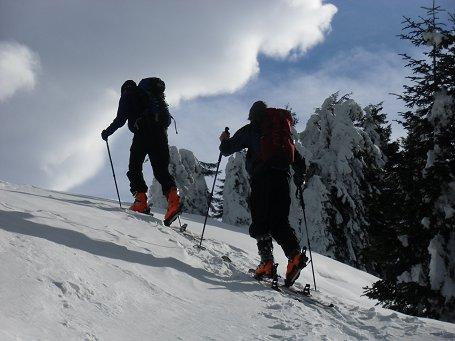 Jakob und Tim beim Aufstieg