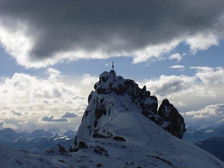 Fantastische Föhnstimmung am Gipfel des Kampl (2.001m)