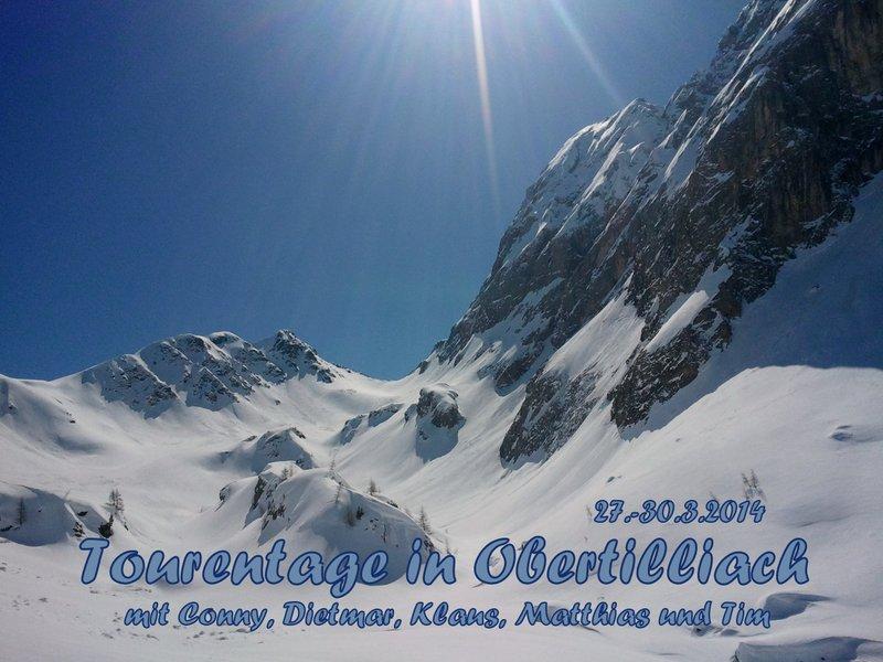 Blick von der Tscharre zum Hintersattel (2.406m) - rechts der Hohe Kinigat  und die Königswand